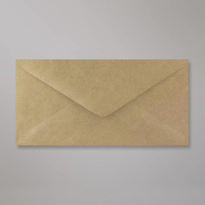 Brun konvolut med riller 110x220 mm (DL)