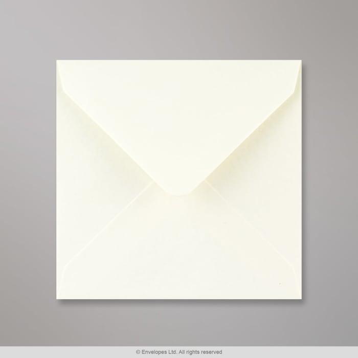 Elfenbeinfarbener Struktur Briefumschlag 130x130 mm