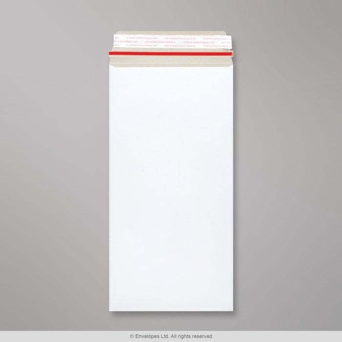 Enveloppe blanche tout en carton 305x152 mm