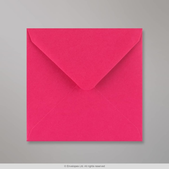 130x130 mm Fuschiaroze Envelop