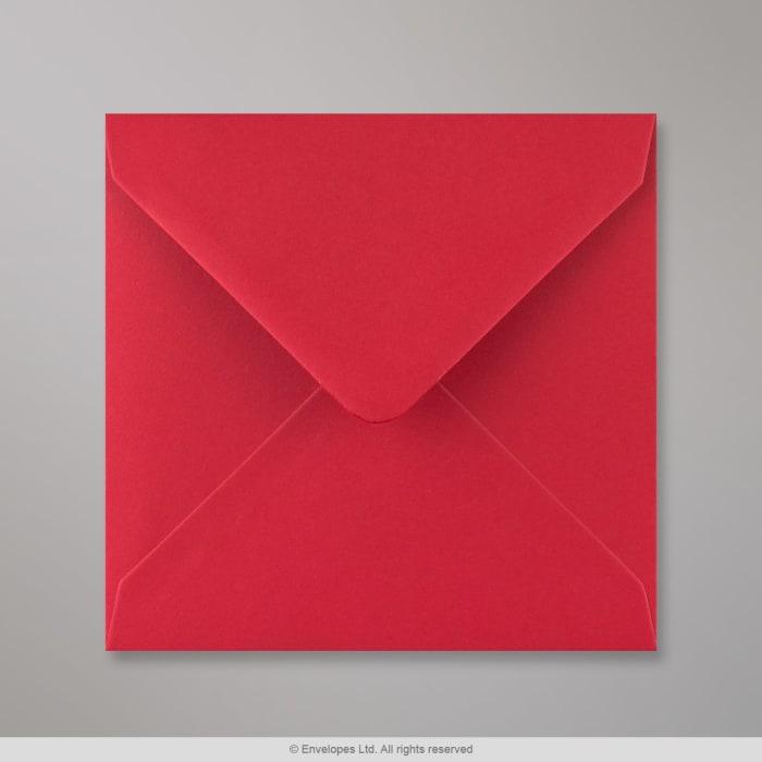 Scharlachroter Briefumschlag 140x140 mm