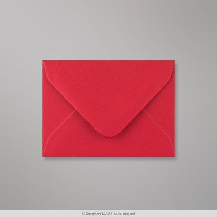 70x100 mm Šarlátovo-červená obálka