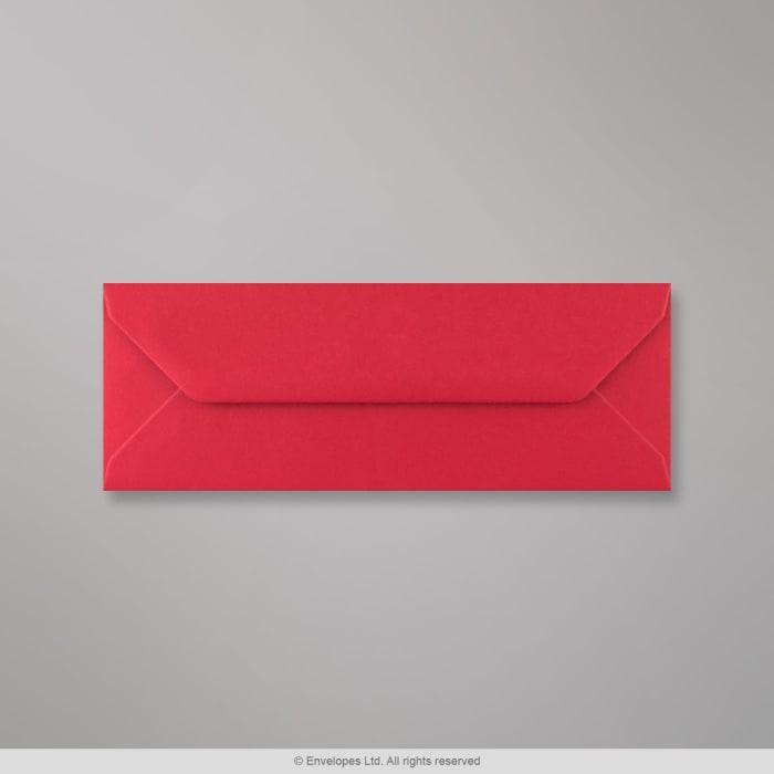 Sobre rojo escarlata de 80x215 mm