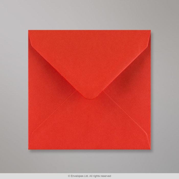 Valmuerød konvolut 130x130 mm