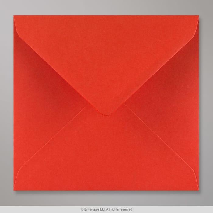 Sobre rojo amapola de 155x155 mm