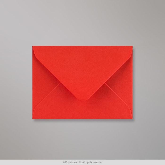 Valmuerød konvolut 82x113 mm (C7)