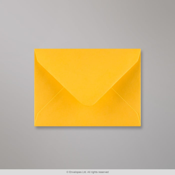 Enveloppe jaune doré 82x113 mm (C7)
