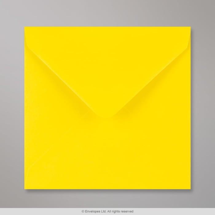 140x140 mm Koperta kremowa żółty narcyzowy