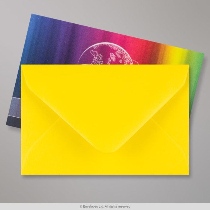 Gelber Briefumschlag 62x94 mm