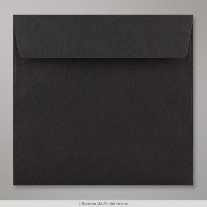 Schwarzer Briefumschlag 155x155 mm