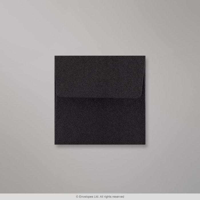 Schwarzer Briefumschlag 80x80 mm