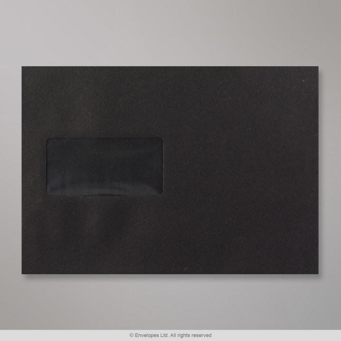 162x229 mm Čierna obálka