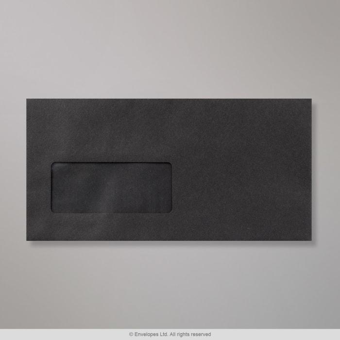 Enveloppe Noire 110x220 mm (DL)