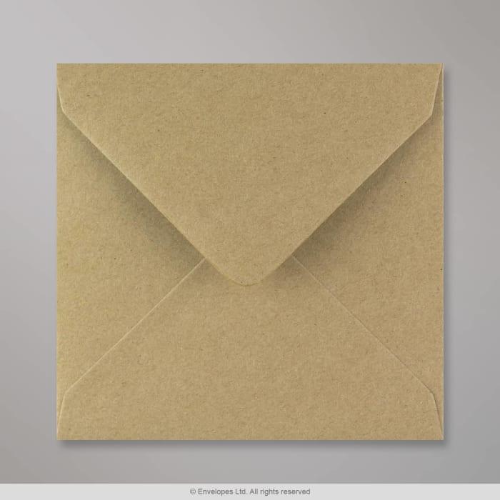 Rakeisen näköinen kirjekuori voimapaperista 140x140 mm
