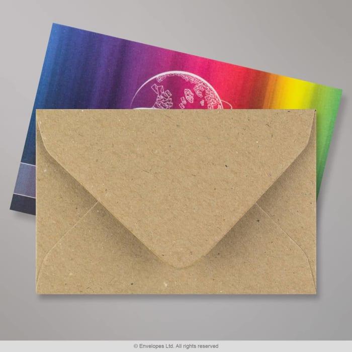 62x94 mm Brązowa koperta z papieru z recyklingu