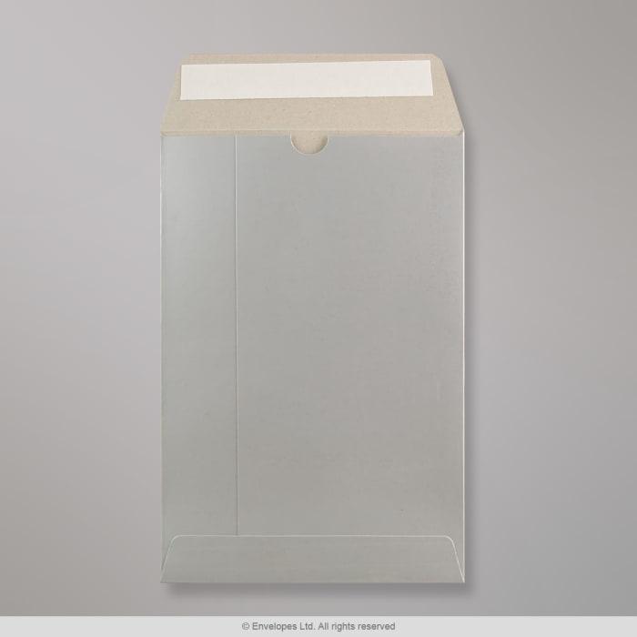 Silbern Glänzende Vollpapptasche 235x162 mm