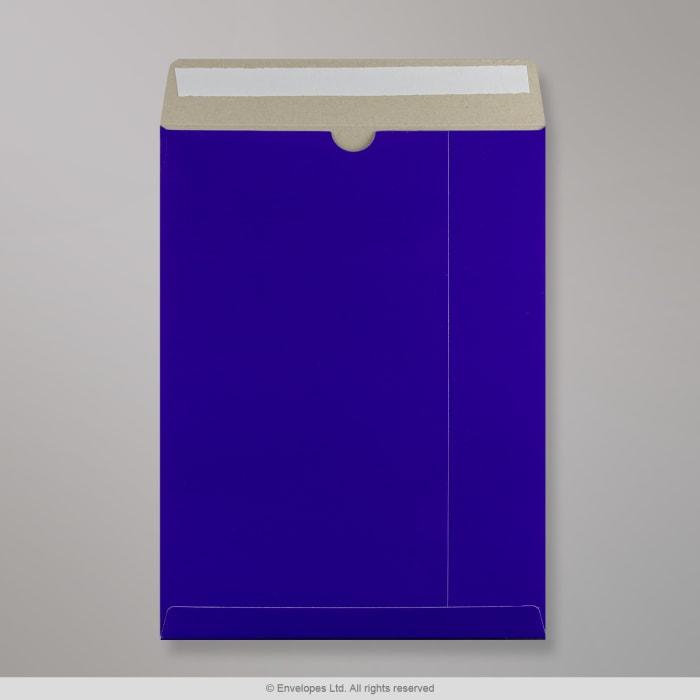 Blau Glänzende Vollpapptasche 324x229 mm (C4)
