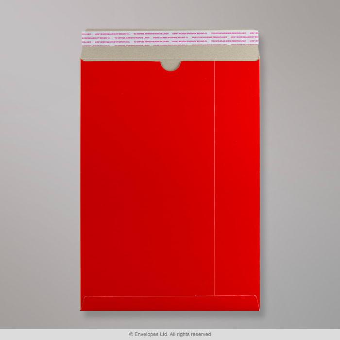 Enveloppe rouge tout en carton 324x229 mm (C4)