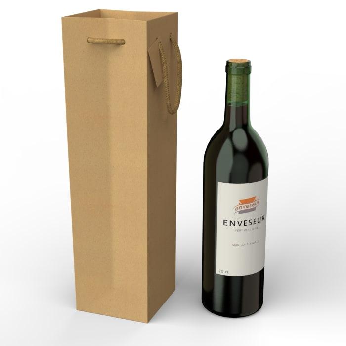 Torby papierowe Kraft na butelki wina (75 cl.)
