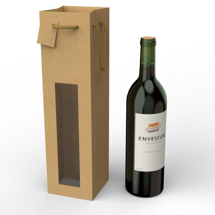 Sacchetti in carta per bottiglie di vino (75 cl.)