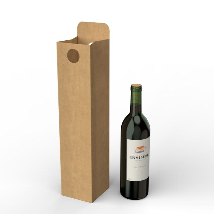 Kartonowe pudełko na wino (75 cl.)