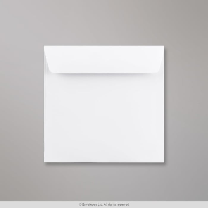 155x155 mm Vitt kuvert