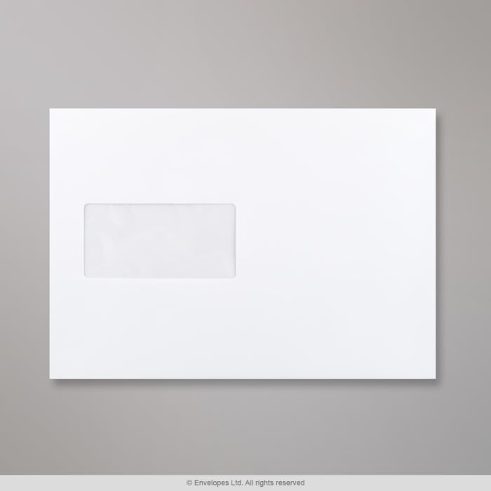 Weißer Briefumschlag mit Fenster 162x229 mm (C5)