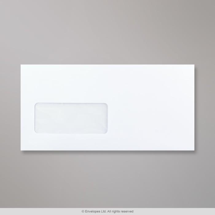 Bílá obálka 110x220 mm (DL)