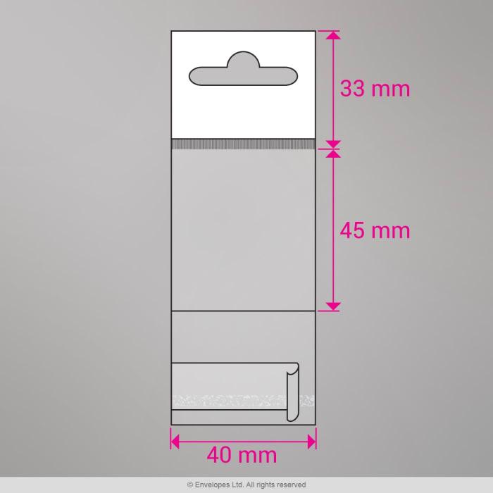 Cellofaanzakken (met hanger) (OPP)