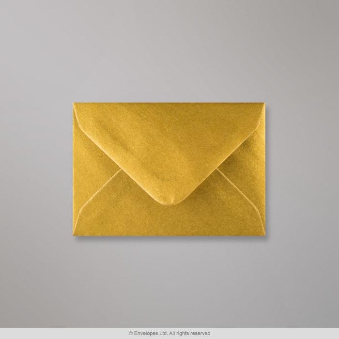 70x100 mm Metalen Gouden Envelop