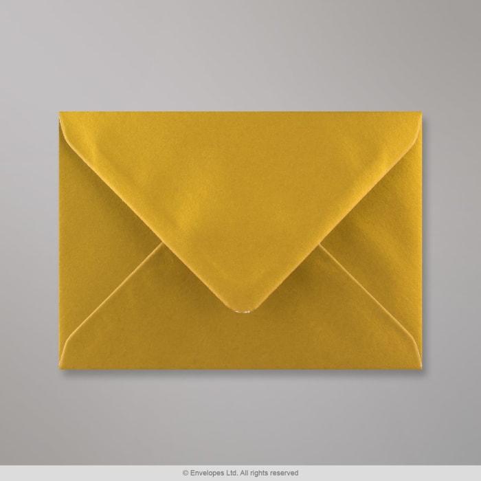 114x162 mm (C6) Metalen Gouden Envelop