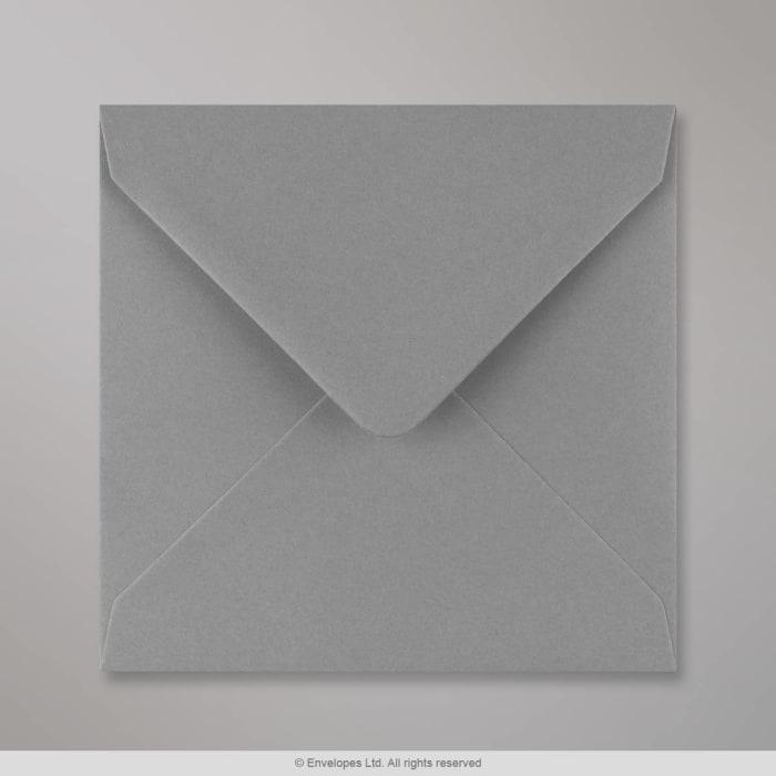 Enveloppe gris foncé 140x140 mm