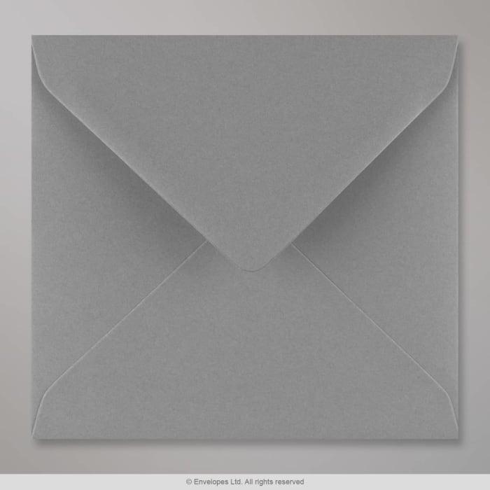 Enveloppe gris foncé 155x155 mm
