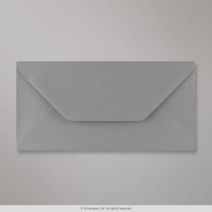 Dunkelgrauer Briefumschlag 110x220 mm (DL)