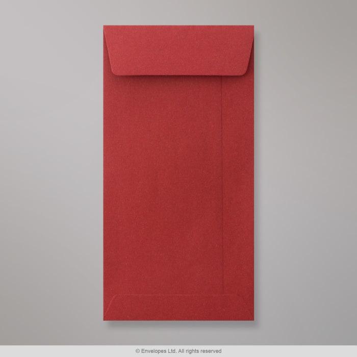 220x110 mm (DL) Tmavočervená vrecúšková obálka