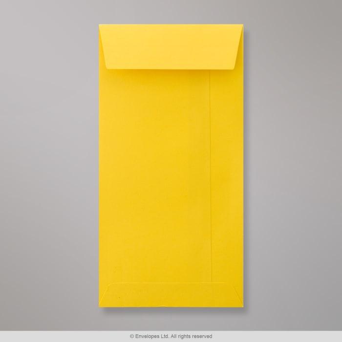 Mørkegul konvolut med lomme 220x110 mm (DL)