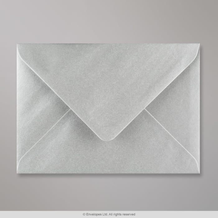 125x175 mm Metalen Zilver Envelop