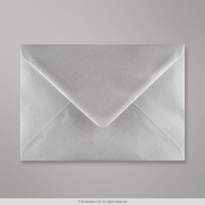 133x184 mm Metalen Zilver Envelop