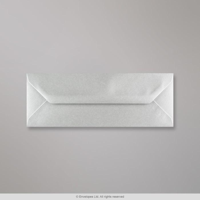 Stříbrná metalická obálka 80x215 mm