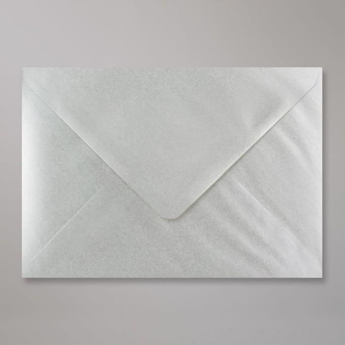 Metallic Silberner Briefumschlag 162x229 mm (C5)