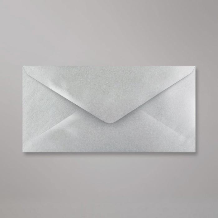 110x220 mm (DL) Metalen Zilver Envelop