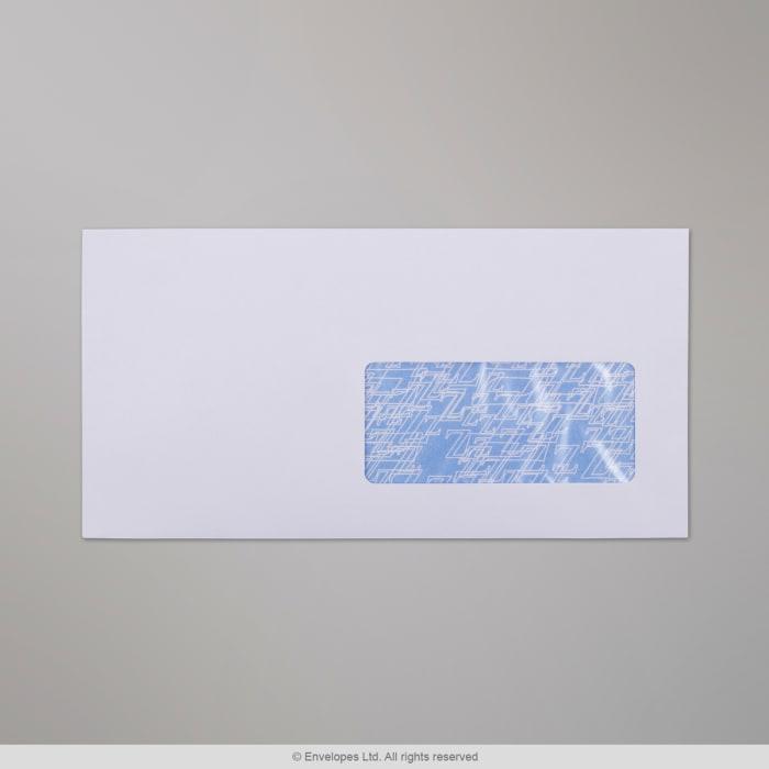Weißer Briefumschlag mit Fenster 115x225 mm