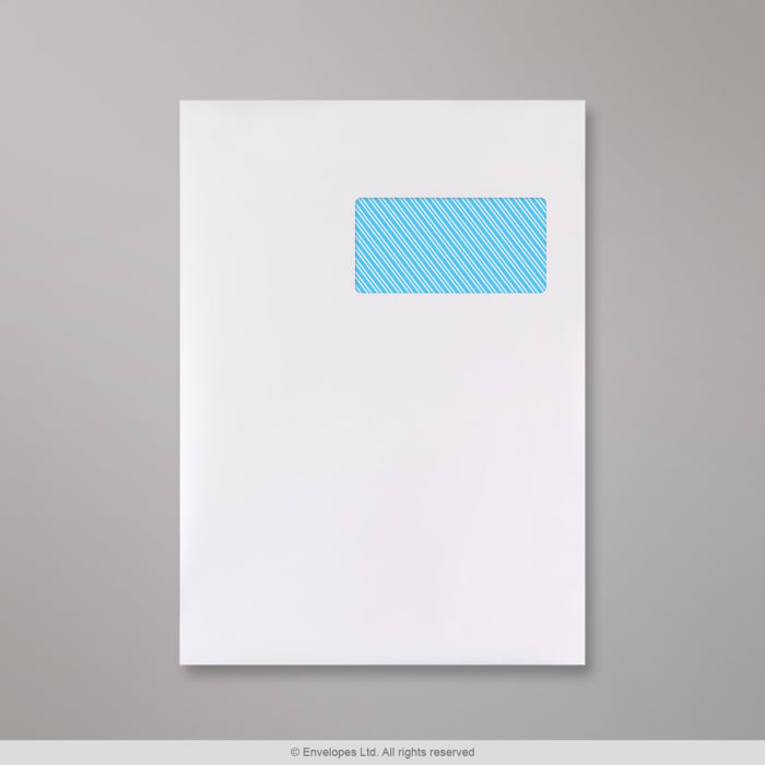 Weiße Versandtasche mit Fenster 324x229 mm (C4)
