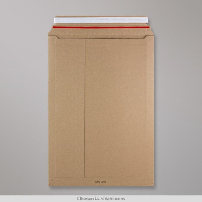 Jäykkä manillanruskea pakkaus, mikroaaltopahvi 500x340 mm
