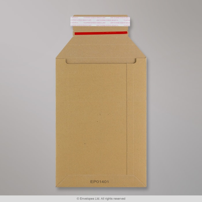 245x170 mm Scatola Robusta per Invio Postale Avana