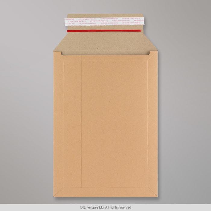 370x285 mm Scatola Robusta per Invio Postale Avana