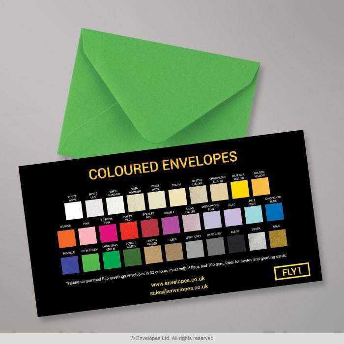 Farbige Briefumschläge – Farbkarte