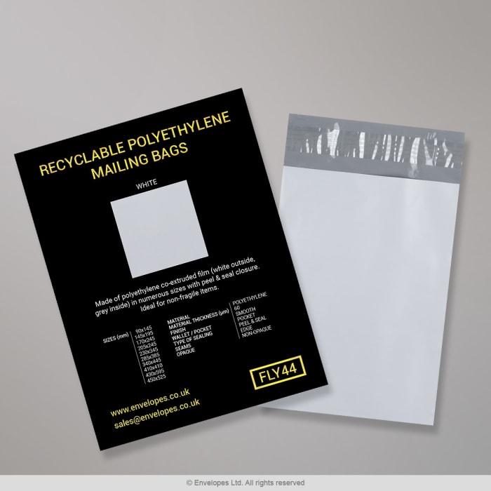 Sacchetti in polietilene per corriere riciclabili – Volantino