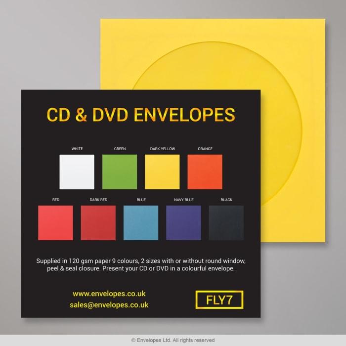 Enveloppes pour CD & DVD - Carte des couleurs