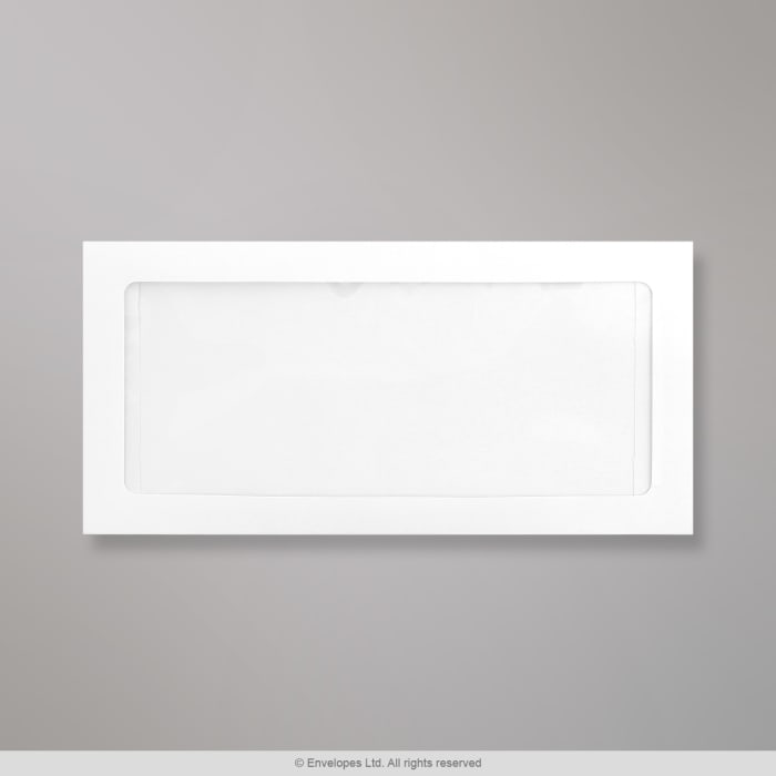 110x220 mm (DL) Biela celookienková obálka